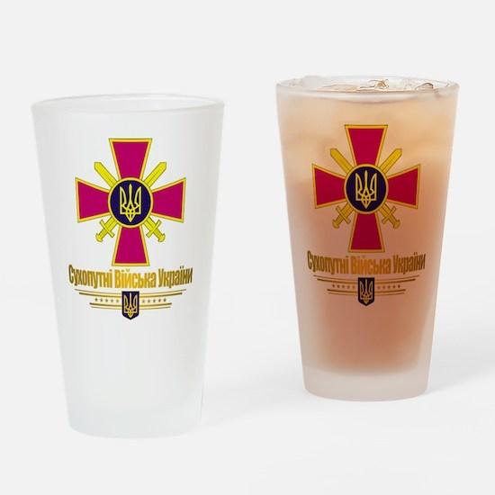 """Ukrainian Ground Forces"" Drinking Glass"