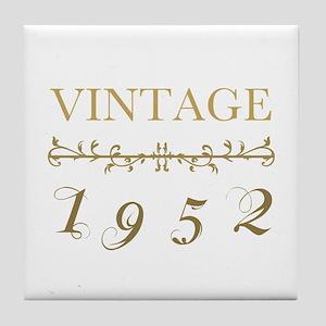 1952 Vintage Gold Tile Coaster
