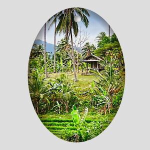 Balinese Farm Ornament (Oval)