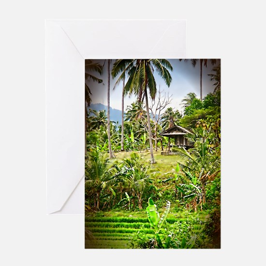 Balinese Farm Greeting Card