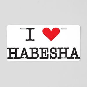 ILoveHabesha Aluminum License Plate
