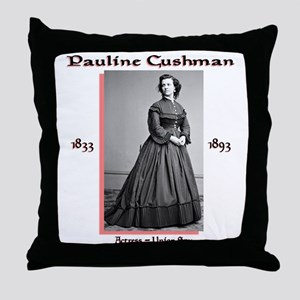 Pauline Cushman Throw Pillow