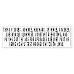 Think viruses...Linux - Sticker (Bumper)