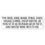 Think viruses...Linux - Sticker (Bumper 50 pk)