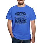 Think viruses...Linux - Dark T-Shirt