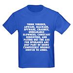 Think viruses...Linux - Kids Dark T-Shirt