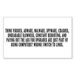 Think viruses...Linux - Sticker (Rectangle)