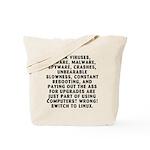 Think viruses...Linux - Tote Bag