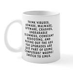 Think viruses...Linux - Mug