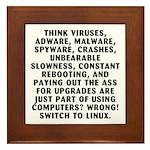 Think viruses...Linux - Framed Tile