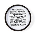 Think viruses...Linux - Wall Clock