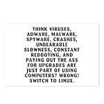 Think viruses...Linux - Postcards (Package of 8)