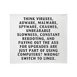 Think viruses...Linux - Throw Blanket