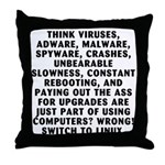 Think viruses...Linux - Throw Pillow
