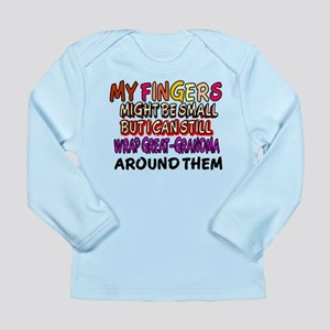FINGERS WRAP GREAT-GRANDMA Long Sleeve Infant T-Sh
