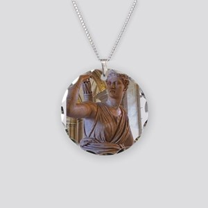 Artemis at the Louvre Necklace Circle Charm