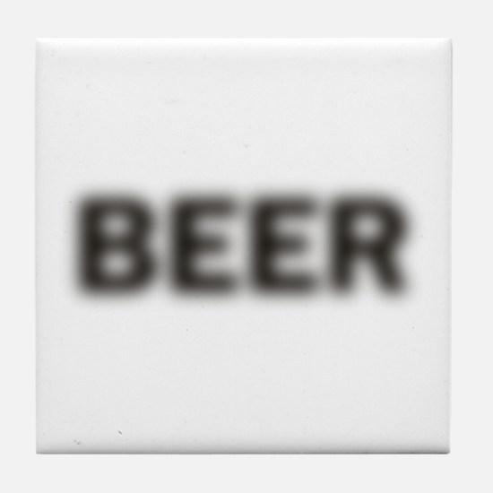 Blurry Beer Tile Coaster