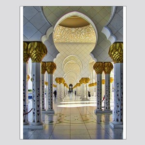 Sheikh Zayed Mosque Corridor Small Poster