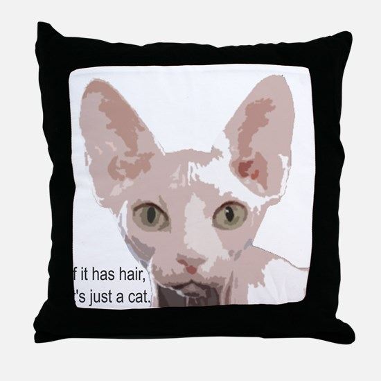 Unique Hairless cat Throw Pillow