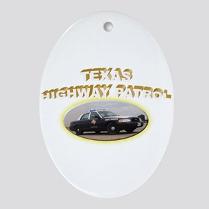 Texas Highway Patrol Ornament (Oval)