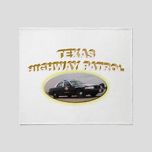 Texas Highway Patrol Throw Blanket
