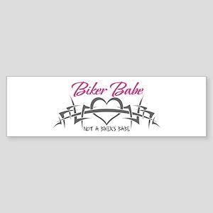 Biker Babe (Not a biker's babe) Sticker (Bumper)