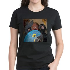 Palm Cockatoos and Hyacinth M Women's Dark T-Shirt