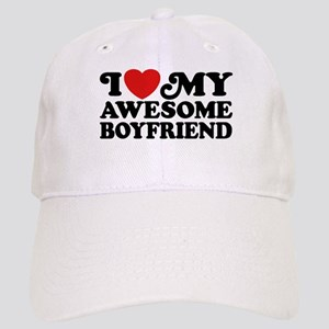 I Love My Awesome Boyfriend Cap