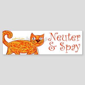 Neuter & Spay (Orange Cat) Bumper Sticker