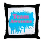 Team Awesome 2 Throw Pillow