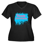 Team Awesome 2 Women's Plus Size V-Neck Dark T-Shi