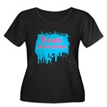 Team Awesome 2 Women's Plus Size Scoop Neck Dark T