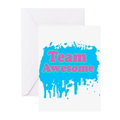 Team Awesome 2 Greeting Cards (Pk of 20)