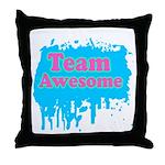 Team Awesome 2 Throw Pillow