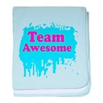 Team Awesome 2 baby blanket