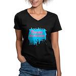 Team Awesome 2 Women's V-Neck Dark T-Shirt