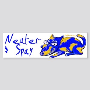 Spay & Neuter (Blue Dog) Bumper Sticker