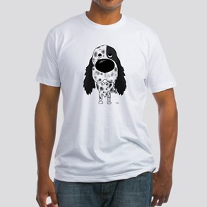 Big Nose English Setter Fitted T-Shirt