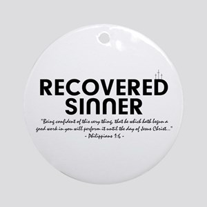 Recovered Sinner Ornament (Round)