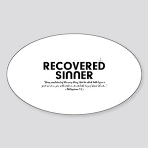 Recovered Sinner Sticker (Oval)