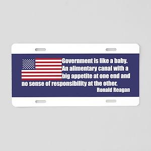 Reagan Quote (GLB) Blue Aluminum License Plate