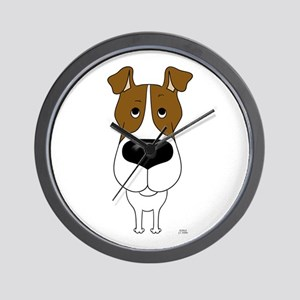 Big Nose Fox Terrier Wall Clock