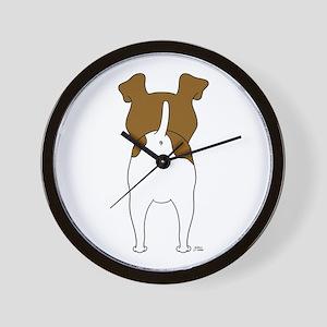 Big Butt Fox Terrier Wall Clock