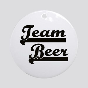 Team Beer Ornament (Round)