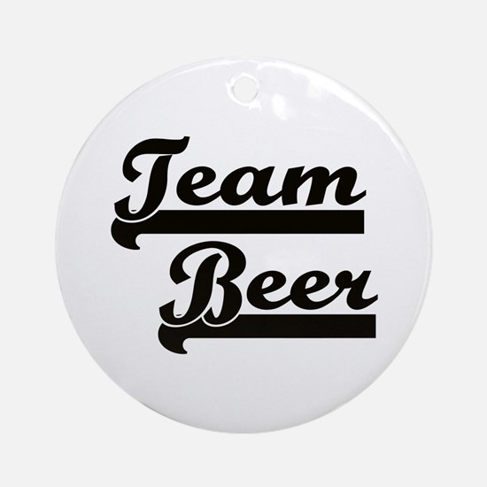 Team Beer Ornament (Round)