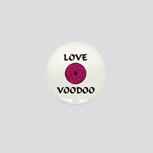 LoveVooDoo Pink/Black Mini Button