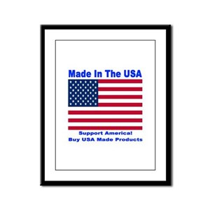 Made In The USA Framed Panel Print