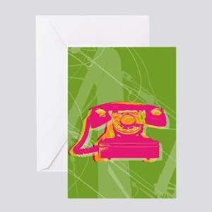 Rotary phone Greeting Card