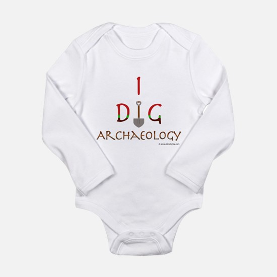 I Dig Archaeology Long Sleeve Infant Bodysuit