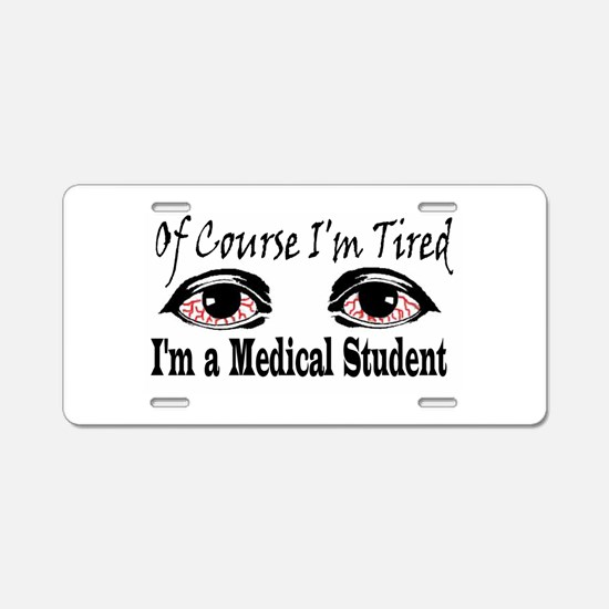 Medical Student Aluminum License Plate